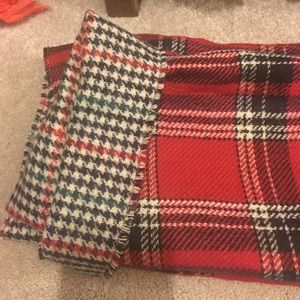 Accessories - Reversible scarf houndstooth pattern/ plaid